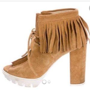 ISO bcbgmaxazria fringe bootie high heel size 7